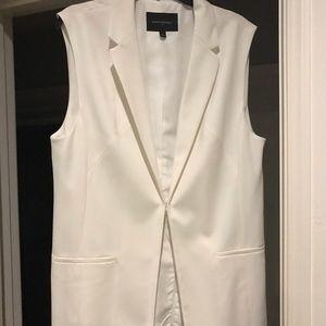 🕸Bright white tuxedo vest
